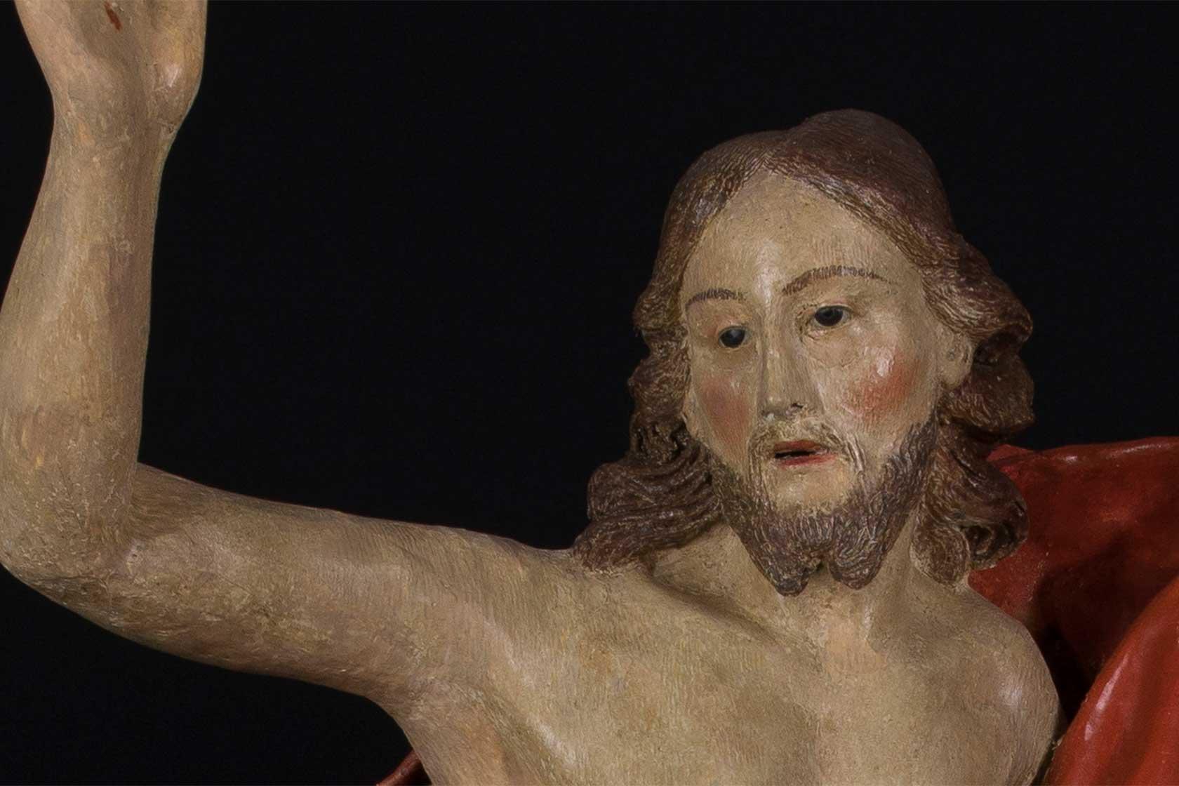cristo risorto cartapesta restauro