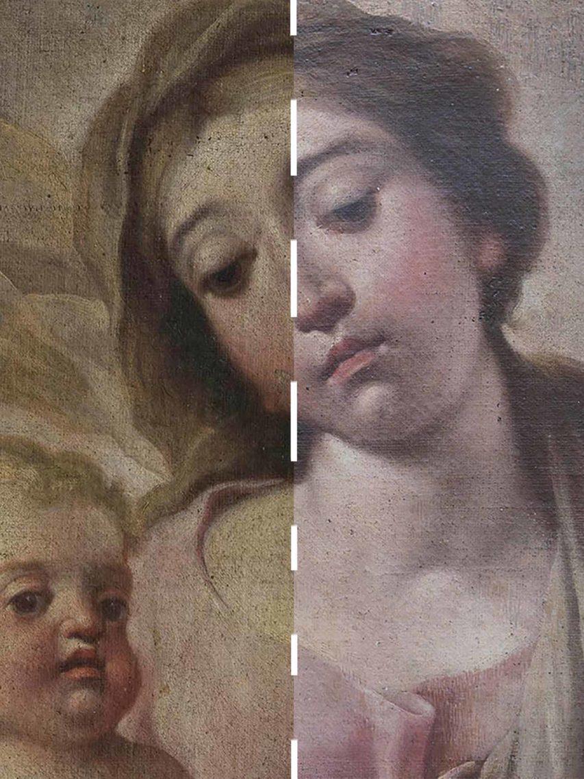Madonna col bambino, San Michele e San Longino